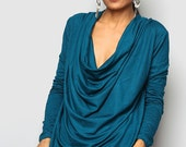 Turquoise Tunic / Trendy Blouse Tunic / Turquoise sweater : Urban Chic Collection No.23