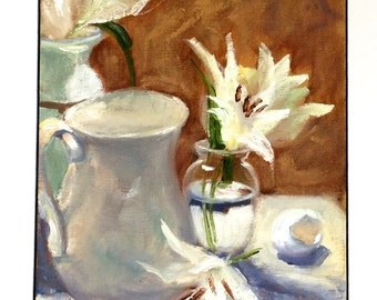 White Lily • Oil Painting • Original Art • Oil Paintings • Daily Painters • Daily Painting • Study in White