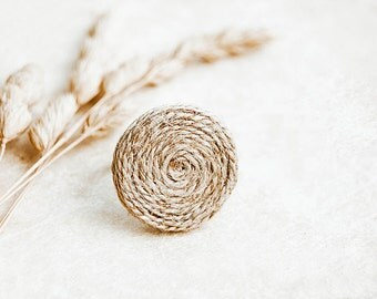 Hemp ring, eco friendly jewelry, rustic ring, unique jewelry
