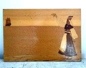 Vintage art - inlaid woodwork