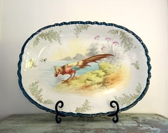 Vintage transferware Platter