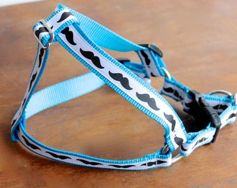 Mustache Dog Harness, Step in Harness