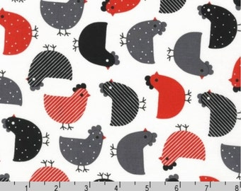 Urban Zoologie - Red Black Chickens by Anne Kelle from Robert Kaufman