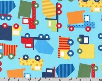 Ready, Set, Go! 2 - Trucks Primary by Ann Kelle from Robert Kaufman
