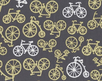 Bicycles - Citron Yellow from Michael Miller