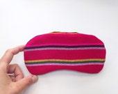 Pink Eye Mask - Striped Mexican Fabric - Eyeshade Sleeping Mask - Slumber  party Eye Mask Eye Pillow  -  bridesmaid Gift