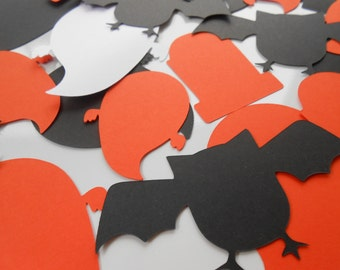 50 Halloween Shapes. Pumpkin, Bats, Ghosts, Tombstones. Custom Orders Welcome. ANY COLOR AVAILABLE.