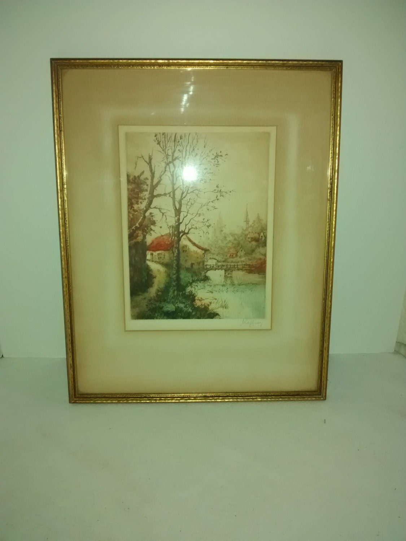 Rene Raffray Aquatint Signed 1930 Paris Etching Society