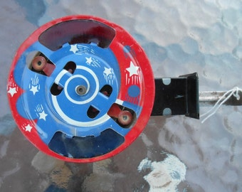Vintage Mechanical Sparkler Tin Litho Toy