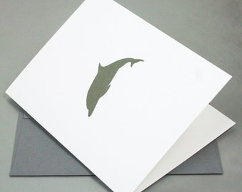 Dolphin Letterpress Card