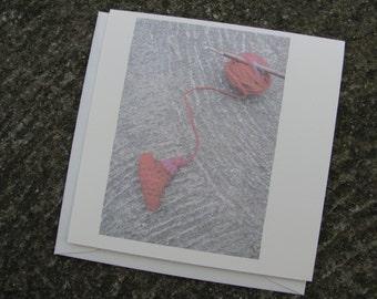Hearty handspun n hook Greeting Card