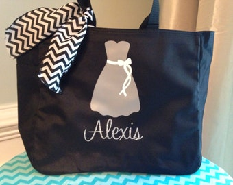 7 Personalized Bride and/or Bridesmaid Tote Bags