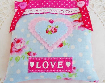 Cottage Chic Valentine's Lavender Sachet/Home Decor
