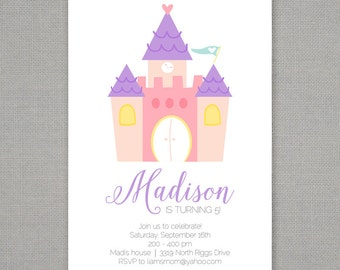 Princess Castle Birthday Party Invitation