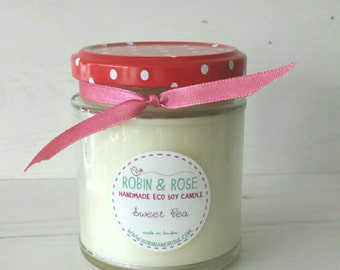 Sweet Pea Natural Handpoured Soy Candle Jar 7oz