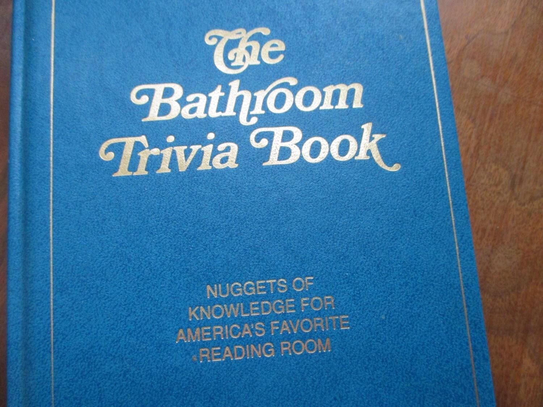 Vintage The Bathroom Trivia Book Fun Gag Book By Jltstudio