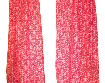 CLEARANCE Modern Curtains- Pair of Drapery Panels- Premier Prints Candy Pink Kimono Curtains- 50W x 63L inch Drapes- Baby Girls Room Decor