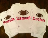 New England Patriots T-shirt or Onesie Personalized with Child's Name or Age