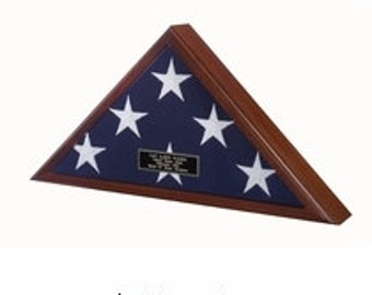 Memorial Flag Case in Cherry Finish