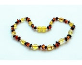 Baltic Amber Teething Necklace - Lemon with Gold Honey Mix - Made in Canada