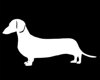 Dachshund Vinyl Decal - Dachshund Decal - Weenie Dog Decal