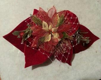 Red Velvet Christmas Hair Clip