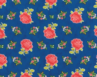 Sale Fancy  Hailey navy cotton fabric from Lily Ashbury for moda fabric 11491 11