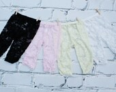 Lace leggings - Baby Lace tights - Capri