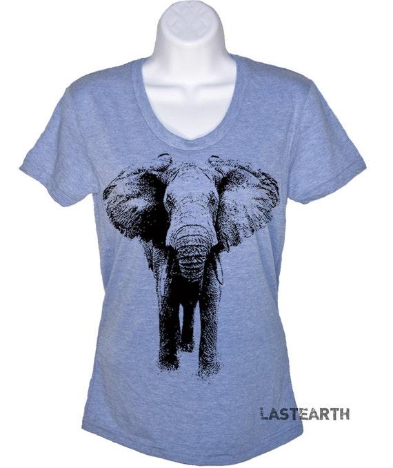 Women's T Shirt Elephant T-Shirt - American Apparel Tshirt - S M L Xl (16 Color Options)