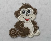 Monkey - MADE to ORDER - Choose COLOR and Size - Tutu & Shirt Supplies - fabric Iron on Applique Patch 6460
