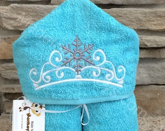 Snowflake Queen Crown Kids Hooded Towels