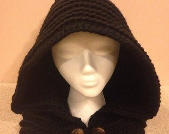 Crochet Adult Hooded Cowl