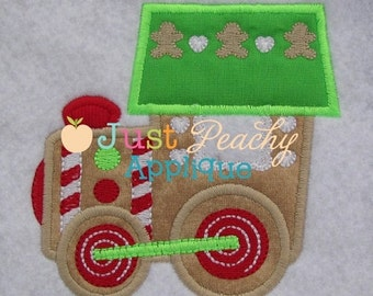 Christmas Gingerbread Train Shirt - Appliqued and Personalized