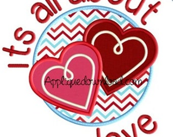 It's all about Love - Applique and Personalized