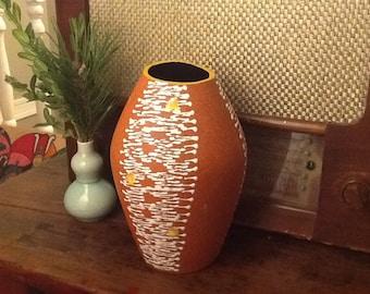 Vintage Mid Century Ceramic Vase West Germany Contemporary Design 1960s