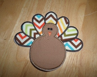 Turkey iron on patch
