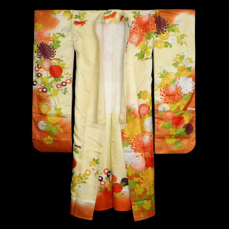 Vintage Japanese Silk Kimono Wedding Dress Kakeshita
