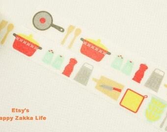 Kitchenware - Japanese Washi Masking Tape - 8.7 yards