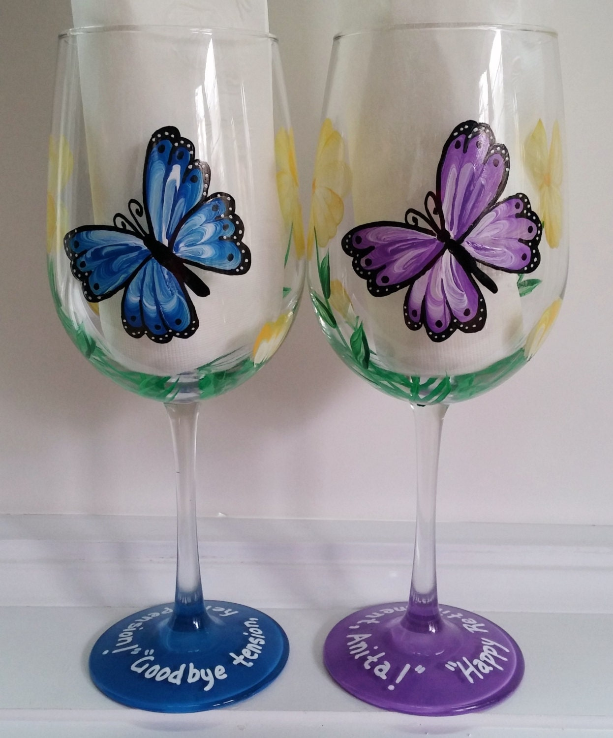 Butterfly designs for glass painting - photo#32