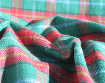 Manitoba Tartan, Manitoba Brushed Shirting Fabric, Green Plaid Fabric, ManitobaTartan By Yard, Warm Shirting Tartan