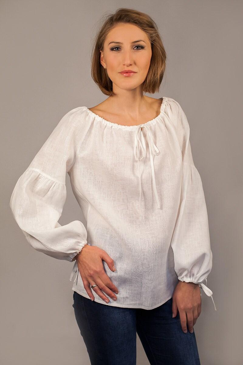 Long Sleeved White Blouse