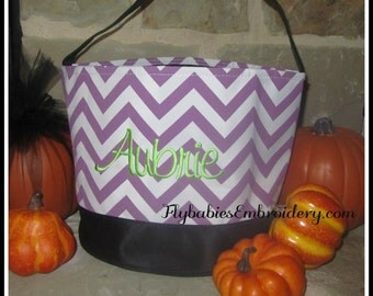 SALE - 25% off - Personalized Halloween Bucket / Personalized Halloween Bag - ships next day