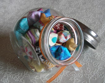 Children's Stars - Small, On Side Glass Jar of Affirmation Stars