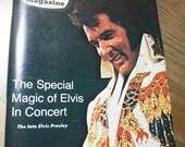Vintage Elvis Presley TV Magazine Guide 1977 Retro Television Shows 70s Ephemera Movie Stars King of Rock n Roll Kitsch