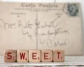 Vintage Letter Cubes SWEET