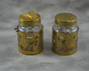 Brass Covered Glass Jar for Sugar and Jelly