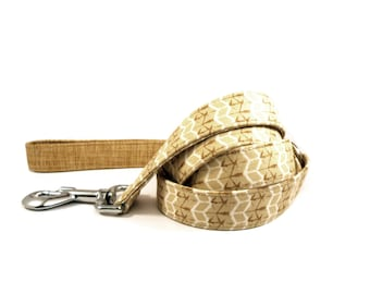 Dog Leash, TAN BEIGE, Handmade Dog Leash