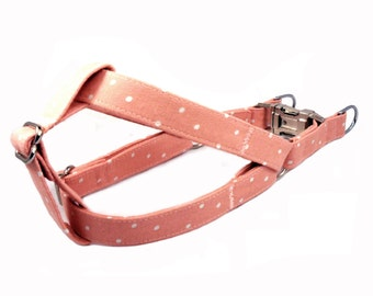 Polka Dots in Blush Dog Step in Harness
