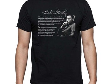 Martin Luther King, Jr. Quote T Shirt or Hoodie - This hour in history needs a dedicated circle FREE US SHIPPING