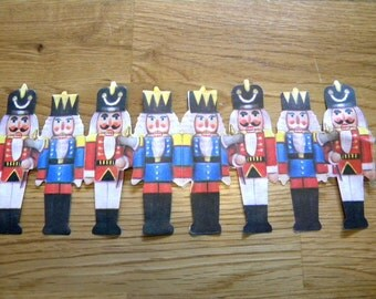 Vintage diecut nutcrackers or soldiers for scrapbooking or assemblage